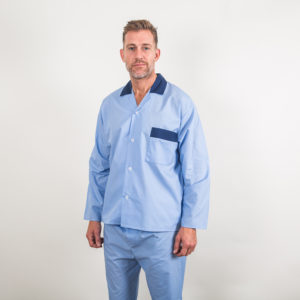 Poly/Cotton contrast pyjamas - blue