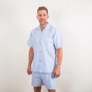 Shortie Cotton Pyjamas - sky
