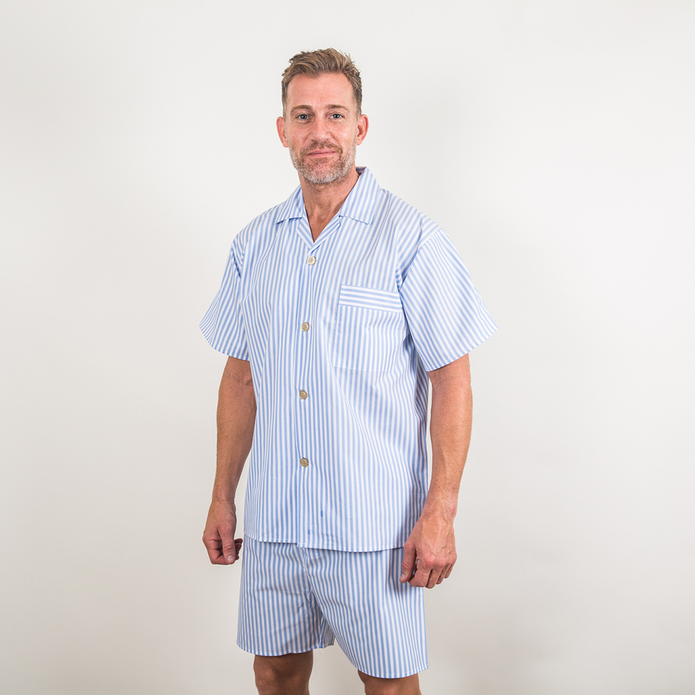Shortie Cotton Pyjamas - sky